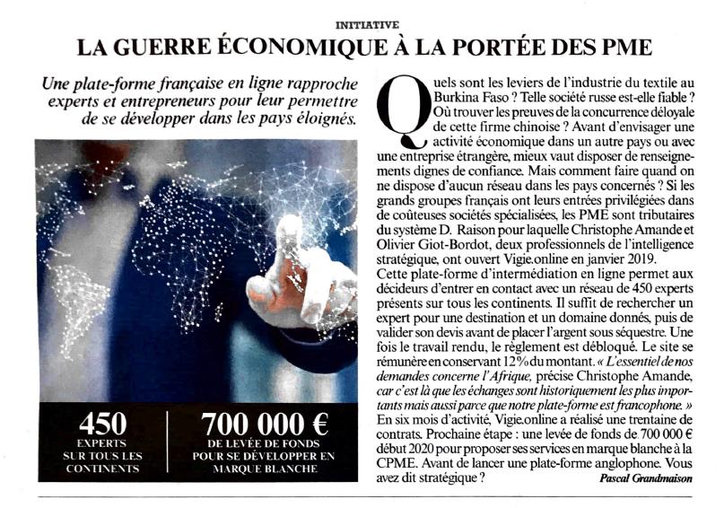 Une plate-forme française en ligne rapproche experts et entrepreneurs pour leur permettre de se développer dans les pays éloignés.