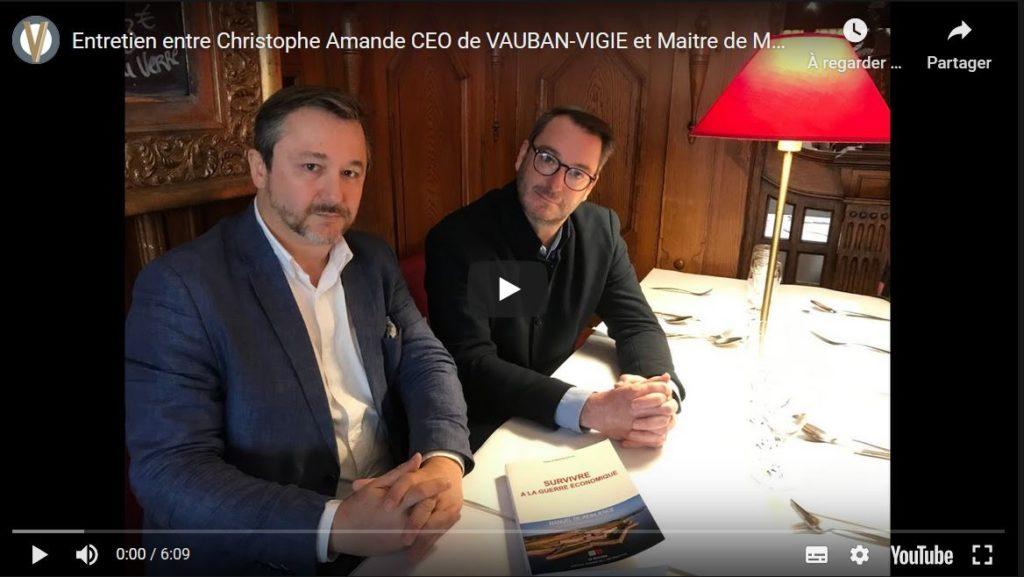 video entretien entre christophe Amande et Maitre de Maison Rouge